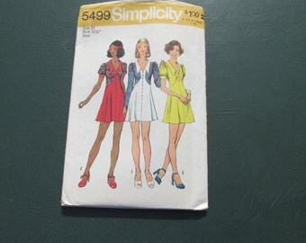 Simplicity 5499 -  Pattern Patter - Summer Dress - Commercial - Misses Size 10 - Classic Fashion - Sewing Pattern - Uncut Pattern