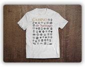"""T-Shirt """"Sellos of the Camino de Santiago"""""""