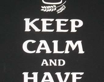 5XL Keep Calm and Have a Beer Crew T-Shirt
