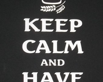 XXL Keep Calm and Have a Beer Crew T-Shirt