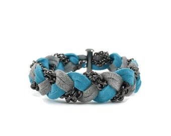 Gunmetal Braided Bracelet