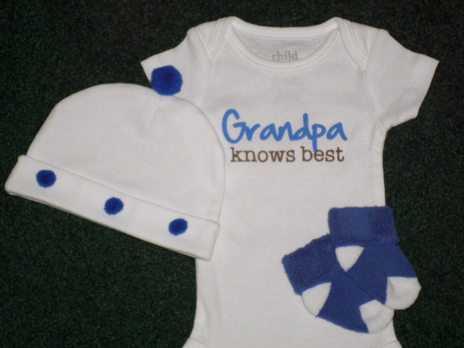 Grandpa Baby Outfit Grandpa Baby Bodysuit Grandpa Baby: Grandpa Knows Best Newborn Bodysuit Gift Set For Baby Boy