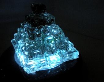 Orgone Transducer Step Pyramid w/ Moldavite