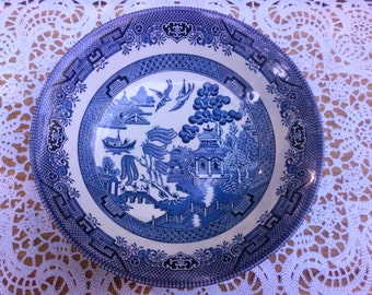 Vintage Churchill Blue Willow  large bowl Made in England
