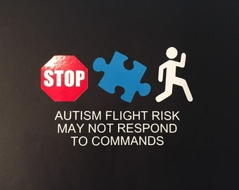 Autism Safety Sticker for car window