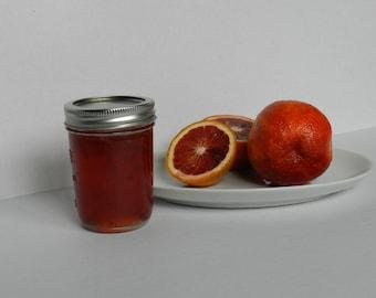 Organic, Blood Orange Marmalade, 8 oz jar, Handcrafted, small batch