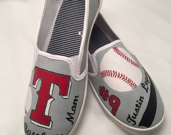 Baseball mom shoes (any color or team available)