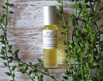 Perfume Oil, Roll on, Fragrance Oil, all natural, Fuji Musume, Yuzu, Citrus, Wisteria, grapeseed, jojoba oil