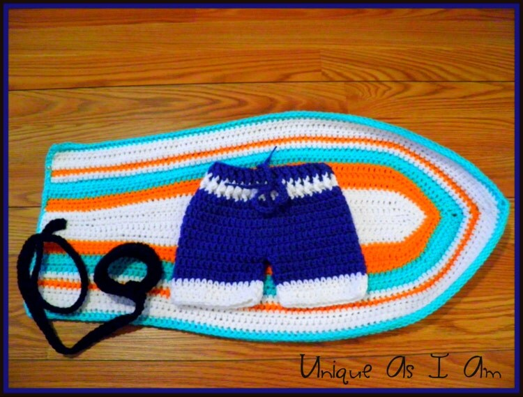 Crochet Surf S Up Baby Boy Swim Trunks And By Uniqueasiam