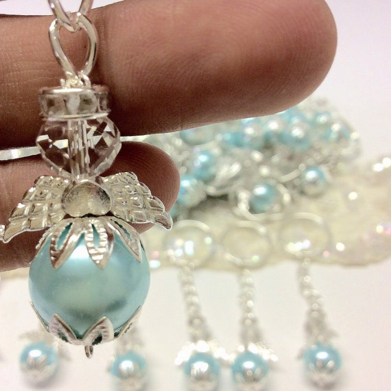 50 Pcs Angel Keychain Christening Favor Baptism Angel Favor