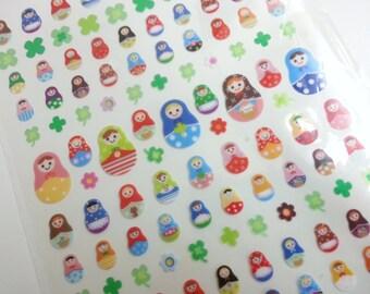Russia Doll Matryoshka Sticker  - 1 Big Sheet