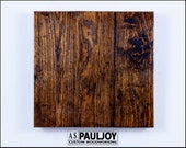 Distressed Wooden Pine Panel. Dark Patina. Etsy, Food, Still Life, Jewelry Photography Background or Surface. Rustic Country Wedding Decor.