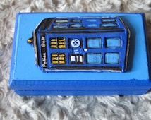 Dr. Who Tardis Ring Bearer Box for Gamer Wedding Geek Wedding or Alternative Wedding Can BePersonalized for Bride and Groom