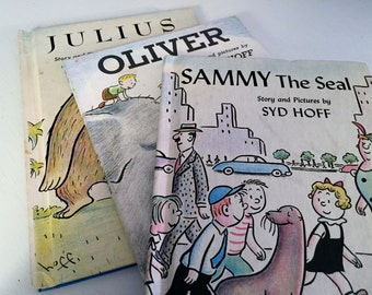 """3 """"I Can Read Books"""" by Syd Hoff - Julius, Oliver and Sammy the Seal"""