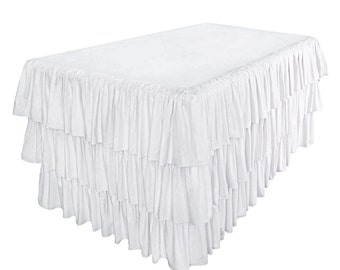 Banquet Ruffled Tablecloth