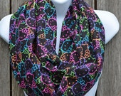 Infinity Scarf made from Neon Kitty fabric
