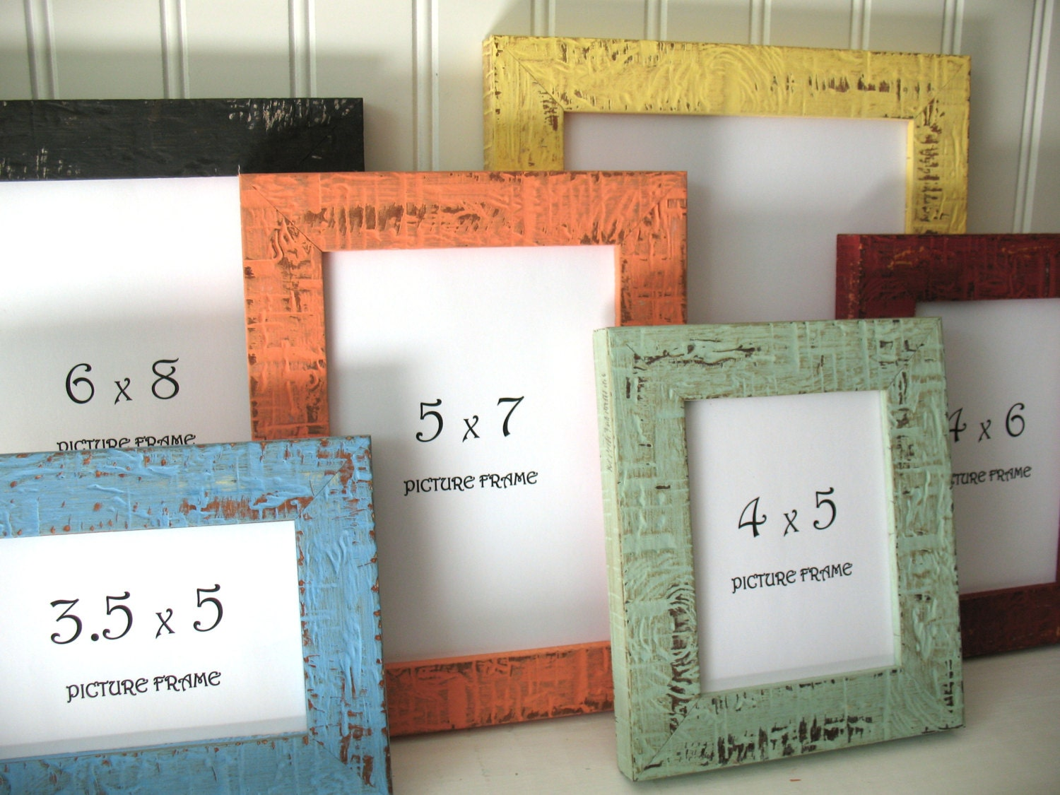 mini frame 12 colors beachy picture instagram photo frame rustic distressed 3x4 4x5 4x6. Black Bedroom Furniture Sets. Home Design Ideas