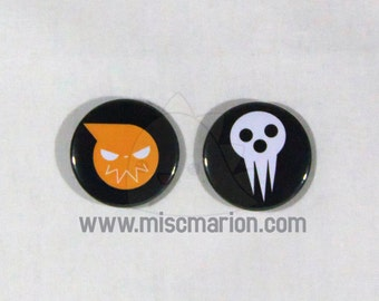 Soul Eater Buttons, Magnets or Keychains 1.5 Inches