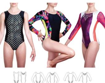 Jalie Princess Seam Gymnastics Leotards Sewing Pattern 3464 Lillie - 22 Sizes for Women & Girls