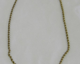 """Sterling Silver 925 Beautiful Vermeil Necklace, Chain is 14 1/2"""" in length #6253"""