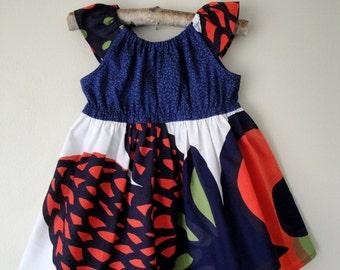 Marimekko Oona Infant Peasant Dress, Size 6 months