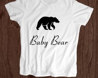 Baby Bear T shirt - Toddler Shirt - Screen Printed Kids T Shirt -100% Cotton-