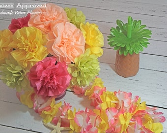 Tropical Tissue Paper Flowers