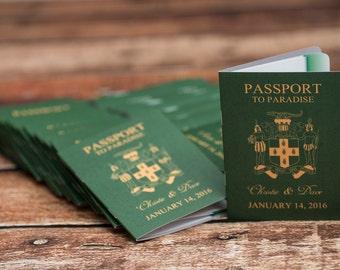Wedding Invitations Passport - Custom Destination invites   Handmade in Canada by  ---- www.empireinvites.ca ---