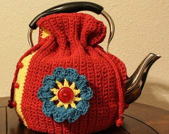 tea cozy for a top handled teapot/ made to order/ your choice of five colors