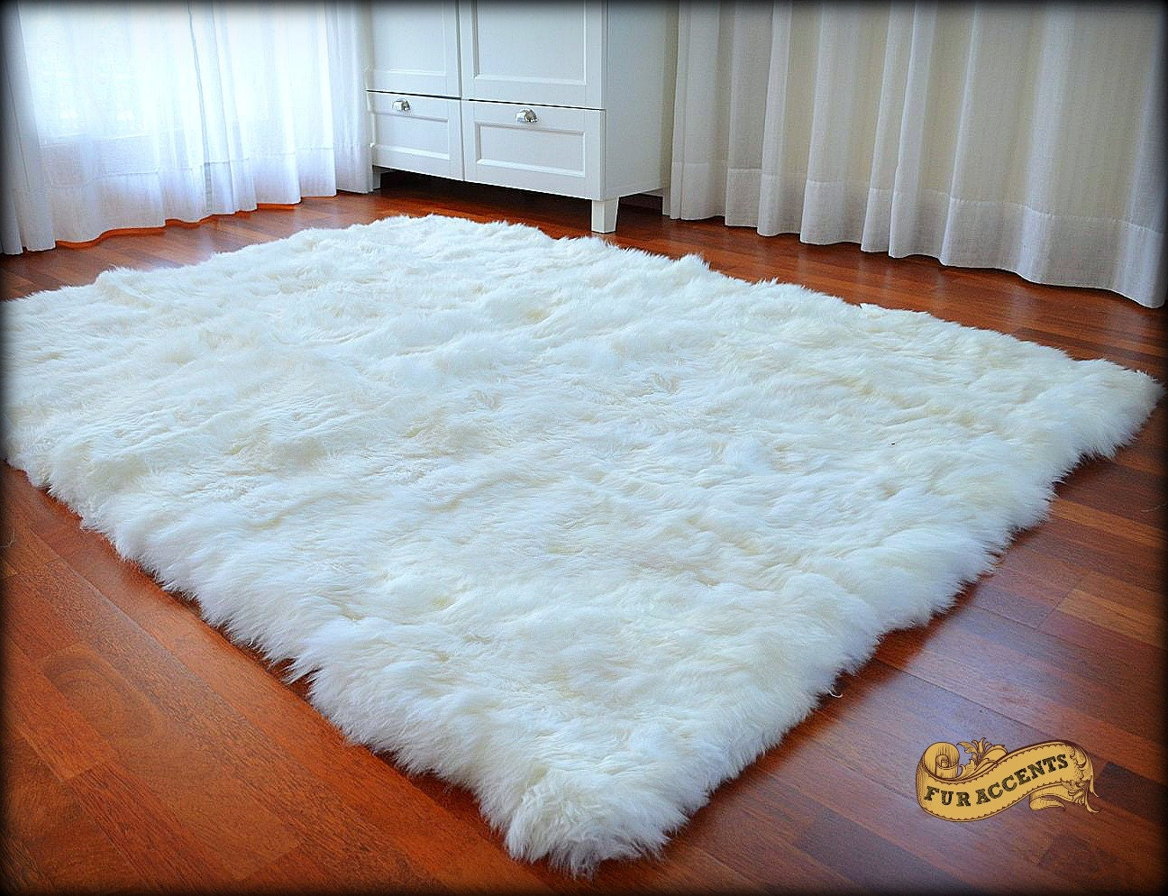 Fur Accents Thick Faux Fur Area Rug Shag Fake Fur By