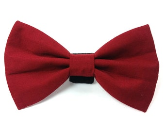 Burgundy wine red - cat bow tie, dog bow tie, pet bow tie