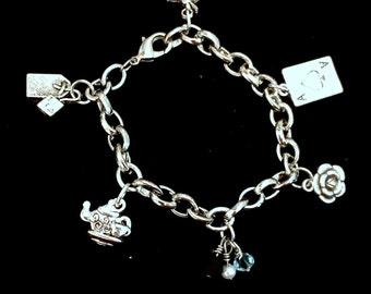 Alice Inspired Charm Bracelet
