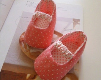 Pink Dotted Mary Jane Baby Booties