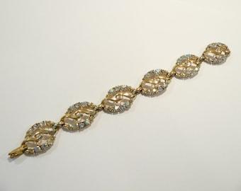 Lovely Vintage Clear & AB Rhinestone Bracelet