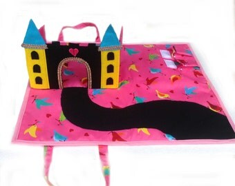 3D Castle Play mat / Princess Castle Handbag Sewing Pattern / gifts for girls / Fantasy Play / Quiet Toy