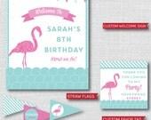 Flamingo Printable Birthday Party Kit - Flamingo Birthday Party - DIGITAL DESIGN