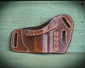 Custom conceal and carry leather holster with/without initials/name