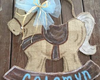 Rocking horse door hanger