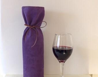 Leather Wine Bag/ Wine Bottle Bag/ Bottle Bag/ Bottle Gift Bag/ Wine Gift Bag (ref32)