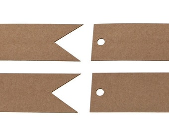 Recycled Brown Kraft Blank Flag Tags (Pack Of 50)