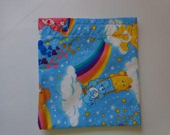 Kids Carebears Cloth Snack Bag, Reusable Snack Bag
