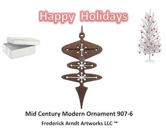 907-6 Mid Century Modern Christmas Ornament