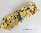 Adult mens neck tie Mini Minion Dispicable Me fabric