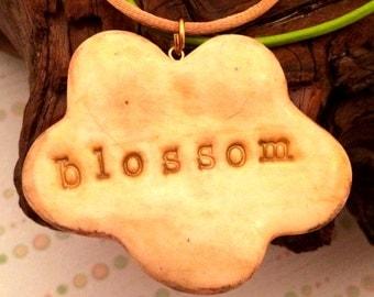 New! Blossom/Grow UltraLight Clay Necklace - Flower Pendant, Double Strand, Reversible Design, UV/Blacklight Reactive