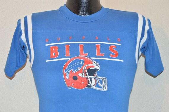 80s buffalo bills striped raglan jersey style blue vintage for Buffalo bills t shirt jersey