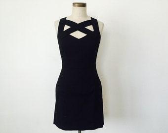 90s Minimal Cross Bandage Dress