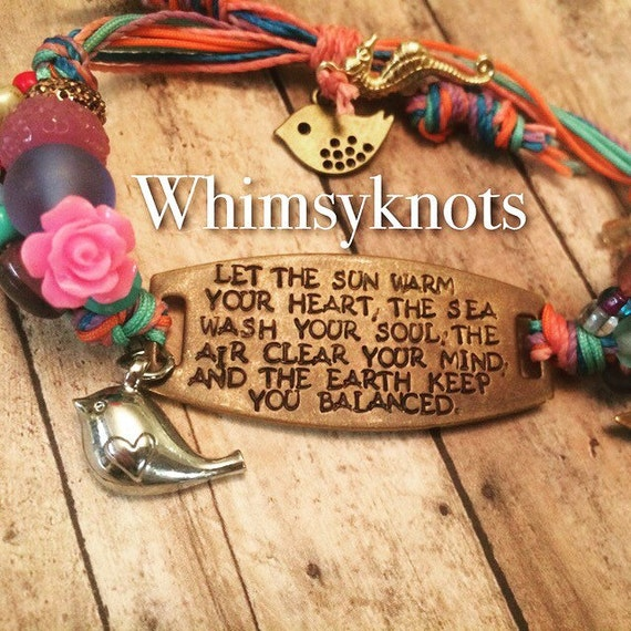 Quote bracelet-personalized quote stamped jewelry