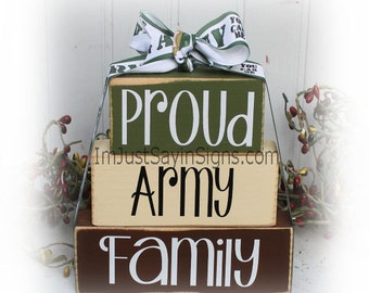 Proud Army Family Itty Bitty Stacking Blocks