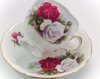 Gorgeous Vintage Colclough Bone China made in England tea cup and saucer