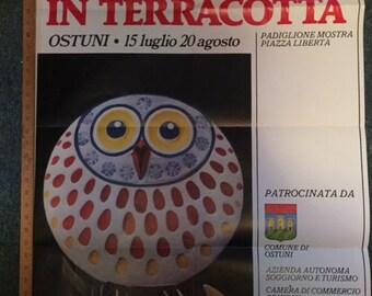 Vintage Italian art poster